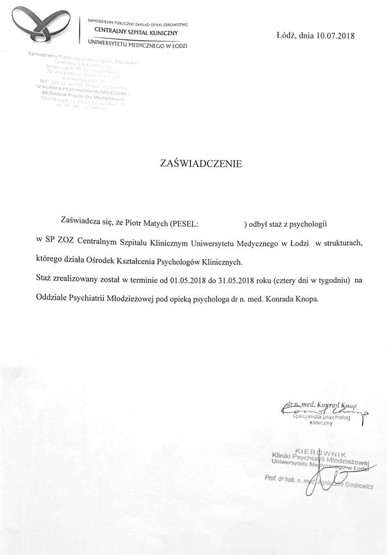 zasw Psycholog, Psychiatra Łódź